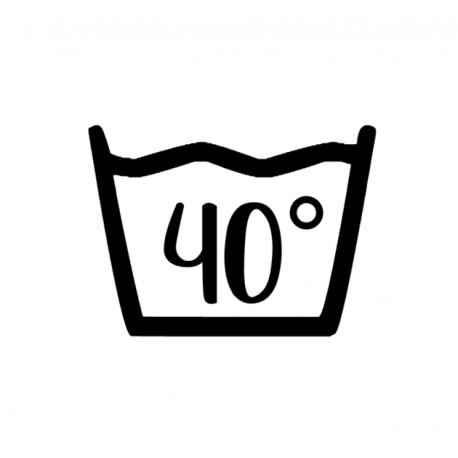 Väggdekor - Tvättsymbol 40°