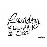 Väggdekor - Laundry ROOM - Loads of fun!