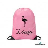 Gympapåse med namn - Flamingo